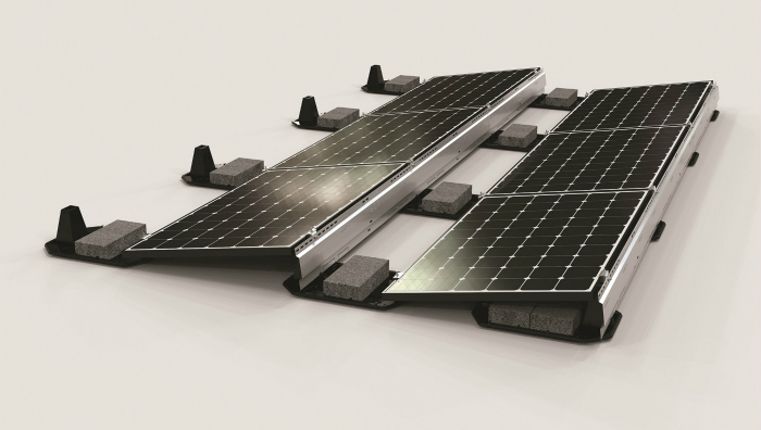 Solar Panel Mounts Amp Racks Ballasted Flat Roof Racking