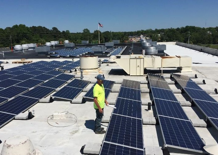 Solar Panel Mounts Amp Racks Ballasted Flat Roof Racking